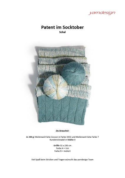 Anleitung - Patent im Socktober